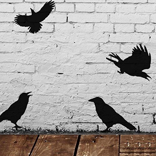 Krähe Vögel Schablone Halloween Stil Dekor & Basteln Schablone Malen & Gestalte Zeichen,Wände, Stoffe, Möbel wiederverwendbar … - Small - See Images