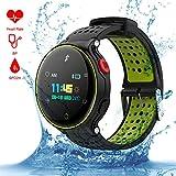 Qimaoo Écran Tactile Smartwatch,Bracelet Connecté, Montre Multifonction