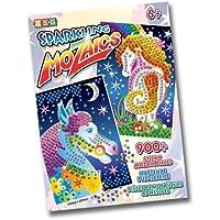 Ksg Arts and Crafts - Immagini da decorare con mosaici adesivi, motivo: 2 cavalli