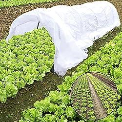 JYCRA Plante Mini serre, tunnel, 25,5gram Plante Row Coque et 6pcs en acier avec revêtement plastique Cerceaux pour serre Jardin plantes protection et Croissance