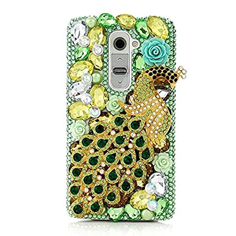 spritech (TM) LG G Stylo Hard Case, Bling Kristall 3D Handmade Strass Design Transparent Phone Cover, metall, muster 24, LG G Stylo