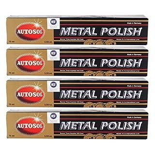 4x AUTOSOL Metal Polish Edel Chromglanz Metall Politur Chrompolitur 75 ml