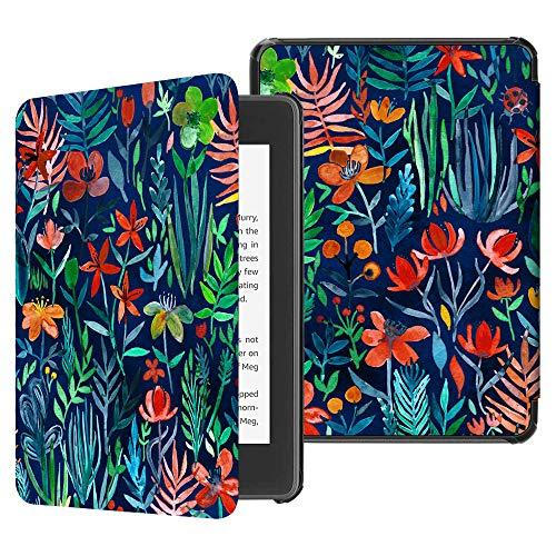 Fintie Hülle für Kindle Paperwhite (10. Generation - 2018) - Die dünnste und leichteste Schutzhülle Tasche mit Auto Sleep/Wake Funktion für Amazon Kindle Paperwhite eReader, Dschungelnacht