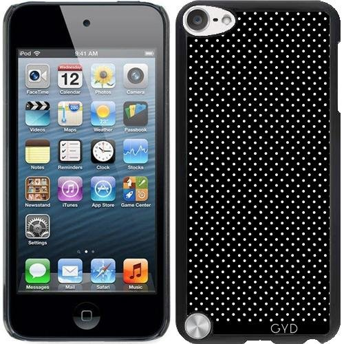 Hülle für Ipod Touch 5 - Kleine Polkadots Auf Schwarz by JAMFoto Ipod Touch 5 Fällen Polka Dot