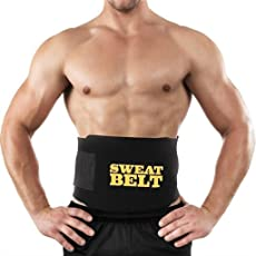 Skycandle Sweat Waist Trimmer / Slimming Belt (Black)