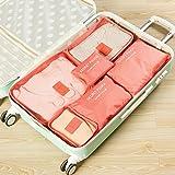 Kleidertaschen-Set 6-teilig IHRKleid® Reisetasche in Koffer Wäschebeutel Schuhbeutel Kosmetik Aufbewahrungstasche Farbwahl (Rot) - 3