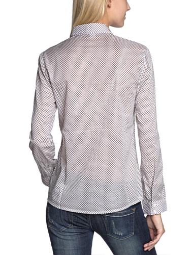 s.Oliver Blouse Col chemise classique Manches longues Femme Ecru - Elfenbein (02A3)