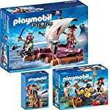 PLAYMOBIL® Piraten 3-tlg. Set 6682 Piratenfloß + 6683 Piraten-Schatzversteck ...