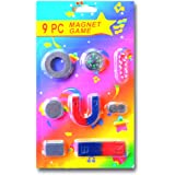 ProjectsforSchool 9 Piece Magnet Game Set for Kids with Compass