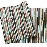 RXM Carta da Parati in PVC Texture Satinata Mattone Soggiorno/TV Sfondo Muro/Camera da Letto/Hotel (Color : B-20.9in*393.7in)