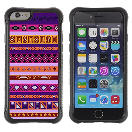 Graphic4You BEIGE TRIBAL Muster Shockproof Anti-Rutsch Weichen Hülle Case Tasche Schutzhülle für Apple iPhone 6 / 6S Design #3