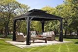 Aluminium Pavillon Überdachung Gazebo Messina // 298x363 cm (BxH) // Sommer-Pavillon und Gartenlaube mit Hard-Top Dach von Sojag