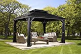 Aluminium Pavillon Überdachung Gazebo Messina // 298x363 cm (BxH) // Sommer-Pavillon und...