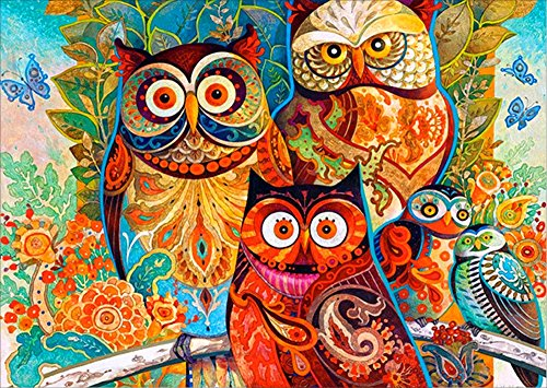 5D Diamond Painting Kit DIY Broche à rayures Cross Stitch Arts Craft pour décoration murale à la maison 11,8 * 15,7 pouces (30 * 40 cm) Oiseau coloré