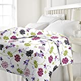 eCraftIndia Floral Single Bed Reversible...