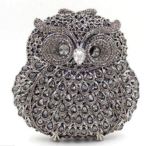 WYB Luxus handgefertigte Diamant-Abendbeutel / Hand über Bohrungen hochwertigen Kristall Abendtasche color 6