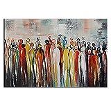 IPLST@ Moderne Wand-Kunst Leinwand Gemälde Bilder für Wohnzimmer Dekoration, Abstrakt Menschen Ölgemälde Stoff Farbe Wandtapeten -24x36inch (kein Rahmen, ohne Bahre)