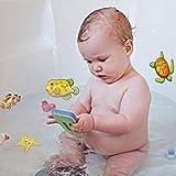 YLLQXI Antirutsch-Matte rutschfeste Dusch und Wannen-Einlage Pads Kindersicherheit Badesticker Cartoon-Design, mit Saugnapf,