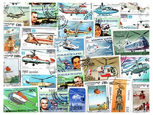 pghstamps Hubschrauber 25 Sammlung von verschiedenen Briefmarken für Sammler