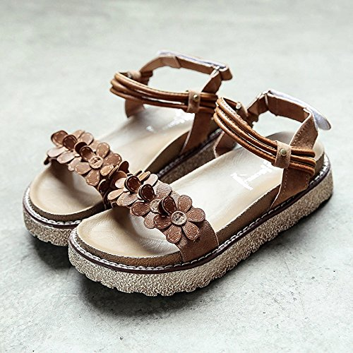 RUGAI-UE Donne sandali estivi scarpe di fondo Yellow