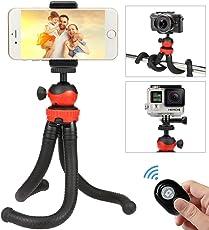 Handy Stativ,Smartphone Stativ,flexibel Kamera Stativ mit fernauslöser,Mini Reise Stativ für Gopro, iPhone, Samsung und andere Android-Smartphone mit Bluetooth fernbedienung