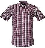 Almsach Basic Fit Kurzarm Trachtenhemd Emil, Größen:XXL;Farbe:aubergine