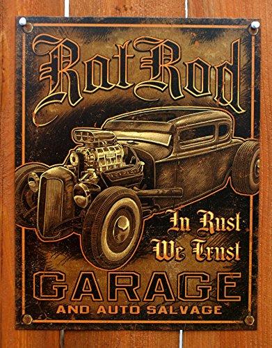 Rat Rod Garage Distressed Retro Vintage Blechschild