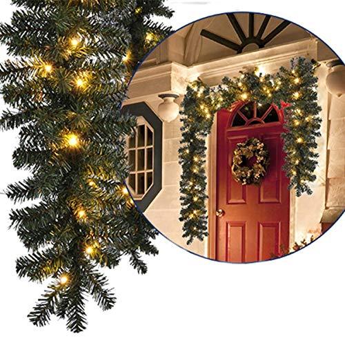 Comtervi Künstliche Tannengirlande Weihnachtsgirlande Girlande Tanne Grün Deko Weihnachten, Weihnachtsgirlande Tannengirlande Weinachtsdeko Adventsdeko für Innen und ()