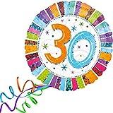 Folienballon 30 GLITZER XXL 45cm, mit Helium gefüllter Luftballon zum Geburtstag + PORTOFREI + Geschenkkarte. High Quality Premium Ballons vom Luftballonprofi & deutschen Heliumballon Experten. Luftballondeko zum Geburtstag oder Jubiläum. Lustiger Geburtstagsgeschenk Ballon