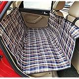 WYXIN Cubierta del asiento del coche del perro Cubierta del asiento trasero con el cinturón de seguridad del coche Impermeable Nonslip Universal , lattice
