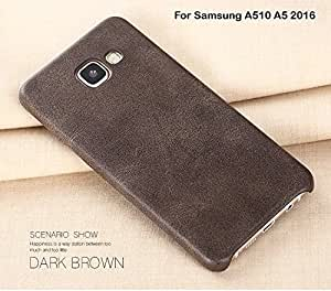 Meephone Electroplated Edge Ultra Thin TPU Clear Flexible Back Case Cover for Samsung Galaxy A510 / A5 2016 - Gold
