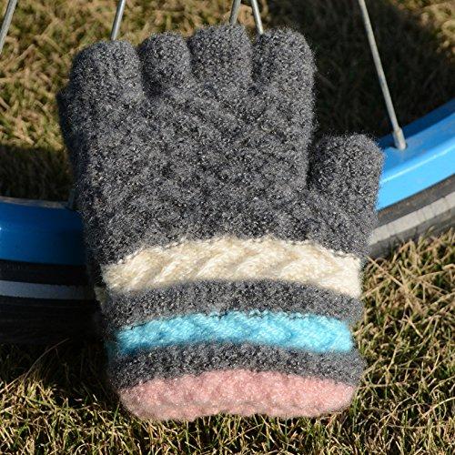 QH Winter Kinder Jacquard Handschuhe Warme Strickhandschuhe Handschuhe Maha Verdickt Schreibhandschuhe,C,Der gesamte Code