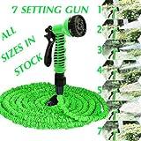 Tuyau d'arrosage Extensible,Tuyau d'arrosage Rétractable avec 7 Fonction Pistolet,Version,avec un sac de rangement gratuit (45M)