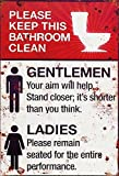 Schatzmix Toiletten Regeln Retro veraltet rostig Keep Bathroom Clean Metal Sign deko Sign Garten Blech
