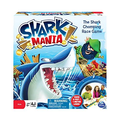Spin Master 6024302 - Shark Mania, Brettspiel (Spiel Hai Spiele)