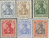 Prophila Collection Deutsches Reich 68-72,74 ohne Wasserzeichen 1902 Germania Inschrift Deutsches Reich (Briefmarken für Sammler)
