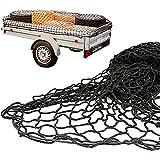 Anhängernetz mit befestigung Rundknöpfen 20St von all-around24® (125 x 210cm...