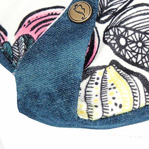 Chang Spent tela di canapa casuale Piazza messenger bag delle donne , blue Blue