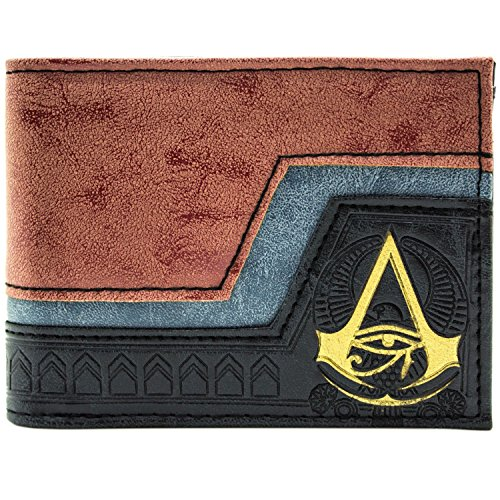 Assassins Creed Origins geprägt Symbol Braun Portemonnaie -