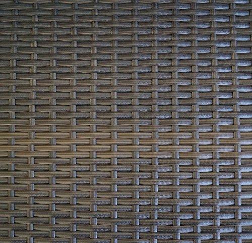 Polyrattan Rattan Gartenbank Parkbank Garten Bank Sitzbank 2 Sitzer Gartennöbel 118 cm 36208 - 3