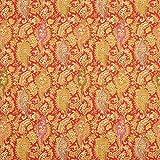 Fabulous Fabrics Blusenstoff Wolle Ornament Paisley Lurex