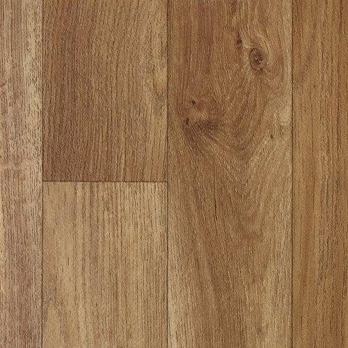 PVC-Boden Holzdielenoptik Mittelbraun mit Vliesrücken| Muster | Vinylboden versch. Längen | Fußbodenheizung geeignet | Platten strapazierfähig & pflegeleicht | robuster, rutschhemmender Fußboden-Belag - Walnuss-holz-bodenbelag