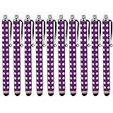 ONX3 ® Blackberry Z3 Polka capacitiva di alluminio dello stilo della penna di tocco (10 pezzi) (Viola)