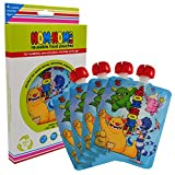 MONSTER Reusable Food Pouch from Nom Nom Kids - Holds 200ml - larger size is perfect for toddlers and older kids - 4 pk - Perfect for healthy yogurts, smoothies and puddings for Back to School.