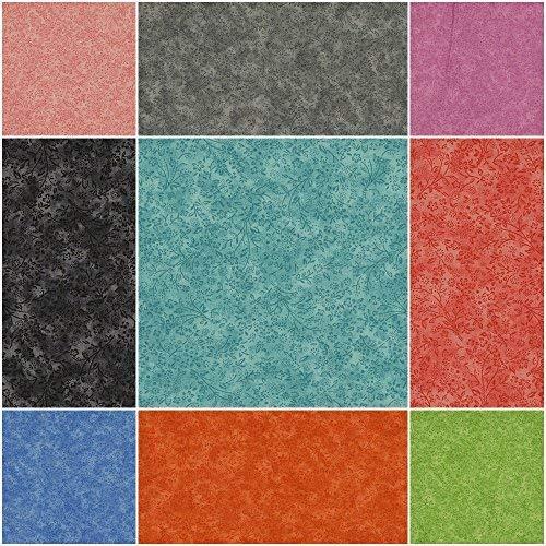 Baumwollstoff Motivkollektion BLUMEN & BLÜTEN ROMANTIC [PAISLEY, klassisches Design] - Meterware ab 50cm in 9 Farben | 100% Baumwolle, Cotton - zum Nähen, Quilten & Patchworken (schwarz) -
