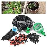 Automatico 25 m DIY 30 dripper micro sistema di irrigazione a goccia impianto d' irrigazione giardino tubo kit per giardino paesaggistico aiuola con automatico timer