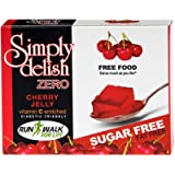 Simply Delish, Sugar-Free Jelly Dessert - Vegan, Gluten and Fat-Free, Cherry Flavour - Pack of 24, Keto Friendly Sweets