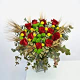 Ramo de rosas Bellesguard - Flores RECIÉN CORTADAS y NATURALES de Gran Tamaño - ENTREGA EN 24h con Dedicatoria Personalizable