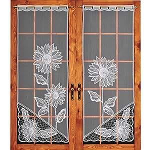 artiga vorh nge mesh 120 cm sonnenblume wei. Black Bedroom Furniture Sets. Home Design Ideas