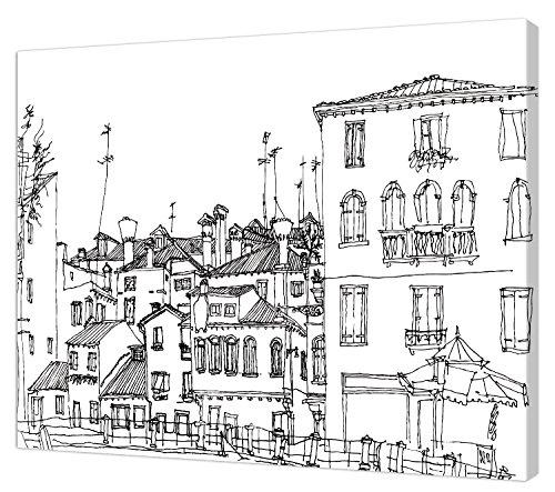 Pintcolor 7812.0Marco Lienzo Impreso Colorear, Madera